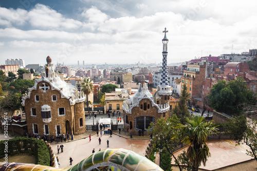 mata magnetyczna Parc Guell in Barcelona, Antonio Gaudi masterpiece