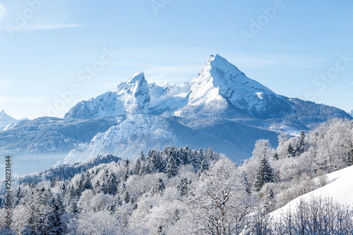 Watzmann mountain in winter, Bavaria, Germany © JFL Photography