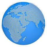 Earth globe model. 3d illustration