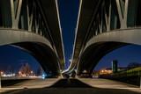 Big Bridge at Night, Bridge Construction, Bridge Bottom