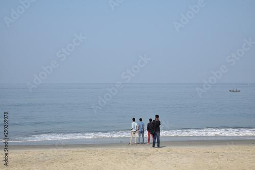 Au bord de la mer à Cochin dans le Kerala, Inde du Sud © JFBRUNEAU