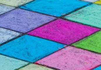 Bunte Kacheln Quadrate Street Art