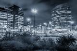 Fototapeta London - biurowce w Warszawie w nocy © Henryk Niestrój
