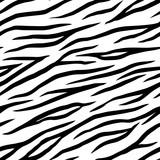 Seamless zebra pattern. Animal print. Black and white stripes.