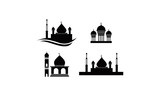 mosque set template illustration
