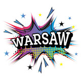 Warsaw Comic Text in Pop Art Style.