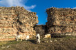 Quadro The ancient wall of Roman city of Diocletianopolis, town of Hisarya, Plovdiv Region, Bulgaria