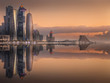 Leinwandbild Motiv The skyline of West Bay and Doha City, Qatar
