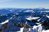 View from the top of Säntis over the swiss alps