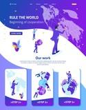 Isometric Businessman Running the Map World - 250418267