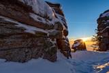 Felsen im Mittelgebirge, Winterstimmung