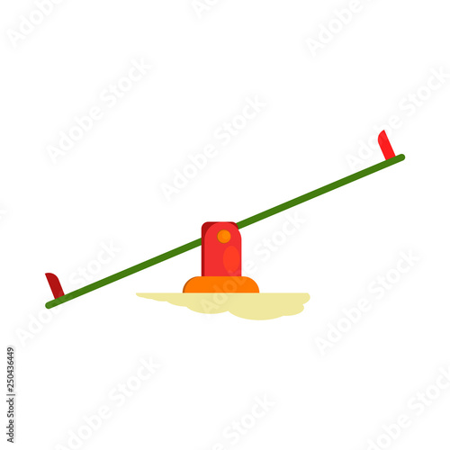 Seesaw vector. Playground, preschool, kindergarten. Childhood concept. Vector illustration can be used for topics like entertainment, leisure, outdoor activity