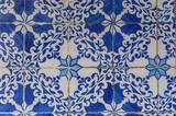 Wall traditional ceramics pattern in Lisbon, Portugal - 250437653
