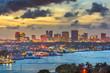 Leinwandbild Motiv Fort Lauderdale, Florida, USA skyline