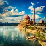 Panoramę Putrajaya. Niesamowity widok na meczet Putra