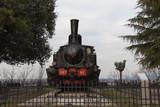 Steam locomotive Prisoner of the Falco d'Italia. Brescia, Lombardy, Italy.