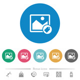 Image tagging flat round icons
