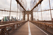 Leinwanddruck Bild - Puente de Brooklyn en Manhattan.