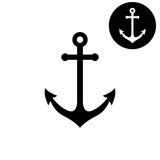 Anchor  - white vector icon