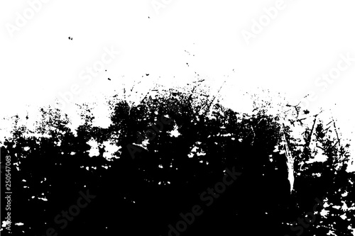 Black and white grunge urban texture vector with copy space. Abstract illustration surface dust and rough dirty wall background with empty template. Distress and grunge effect concept. Vector EPS10. © Phongphan Supphakank