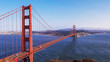 afternoon view of golden gate bridge in san francisco from battery spencer
