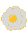 braten spiegelei kochen essen ei eigelb eiweiß frühstück servieren hunger lecker schürze koch chef meister leibgericht clipart design - 250560206