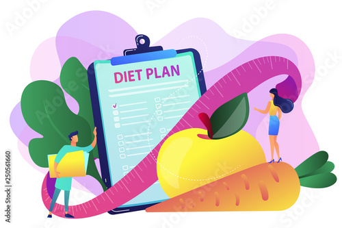 Nutrition diet concept vector illustration. - 250561660