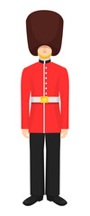 Military soldier character people of royal guards of Great Britain. © Idey