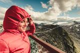 Tourist on Dalsnibba platform, Norway - 250593264