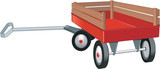 Red Wagon Vector Illustration