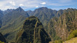 Machu Picchu Jungle Mountain Views coming from the Salkantay Trek near Cusco, Peru.