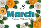 woman's day on 8th March -vector
