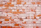 Urban brick wall background with weathered bricks