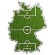 canvas print picture - Karte von Deutschland als Fußball Spielfeld