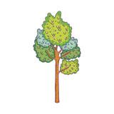 beautiful tree fairytale icon