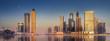 Leinwandbild Motiv Cityscape of Dubai and panoramic view of Business bay, UAE