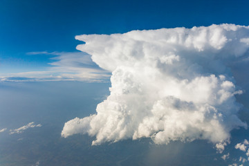 white clouds seen from flying aircraft