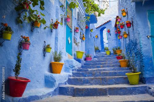 calle azul marruecos © raul