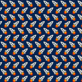 Rockets on Navy Background Digital Background Wallpaper