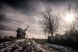Fototapeta Nature - Wiatrak w muzeum Wsi Kieleckiej w Tokarni. Windmill in Tokarnia Open-Air museum. © Mariusz