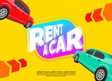 rent a car creative banner design