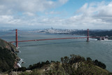 Golden Gate bridge in San Francisco from the Hawk Hill - middle of the day, horizontal