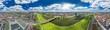 Leinwanddruck Bild - luftbildpanorama mannheim