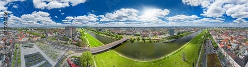 Leinwanddruck Bild luftbildpanorama mannheim