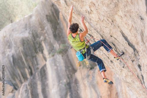 Male sport climbing
