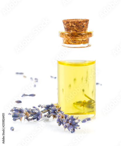 lavender oil isolated on white - 250826451