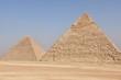 Great Pyramid of Khufu (L) and Pyramid of Khafre, Giza