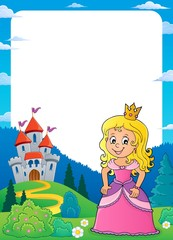 Princess and castle theme frame 1