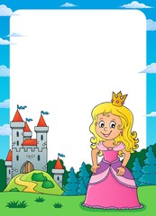 Princess and castle theme frame 2