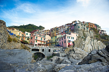 Italia kolorowe uliczki cinque terre stare miasto